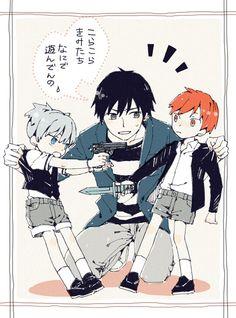 Assassination classroom little karma and nagisa and human koro