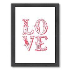 Motivated Love Carnival Framed Textual Art