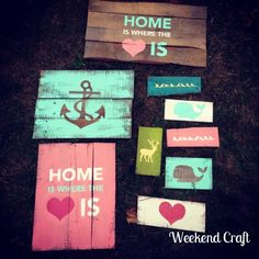 DIY Pallet Signs and stencils