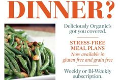 Weekly Meal Plan:  sample gluten free, paleo, and two more plus a subscription service