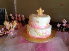 Twinkle  twinkle little star cake for Kristin's baby shower