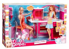 NEW - Barbie - Stovetop To Tabletop Deluxe Kitchen and Doll Set - Mattel T8014 #DollswithClothingAccessories