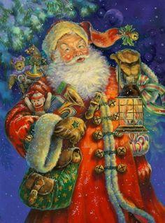 Donna Race (b.1957) —  Santa (593x800)
