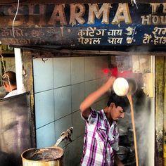 Chai wallah theatrics in Khar - Mumbai, India.