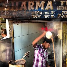 Chai wallah theatrics in Khar - Mumbai, India.