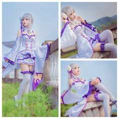 Re Zero Emilia cosplay costume by Liuyiaha #cosplayclass #costume