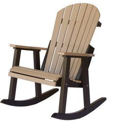 Berlin Gardens Comfo-Back Poly Rocker This is a fall-asleep-in-the-sun chair, it's that comfy. Bring sunscreen with you. #polyrockers #outdoorrockers #porchrockers