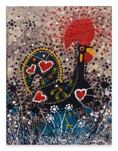 I GAVE MY MOM THE BIRD     16″ x 20″ Mixed Media on Canvas  NFS