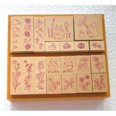 Totoro stamp set!! :P