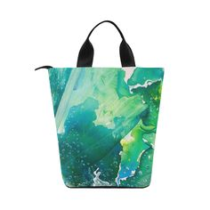 Environmental Nylon Lunch Tote Bag (Model 1670) by environmental artist and painter @anoellejay and @artsadd
