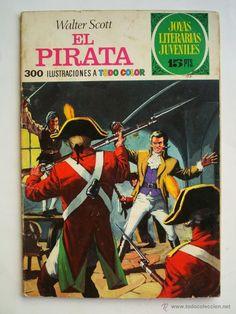 Joyas literarias Juveniles nº 6 - el pirata - Bruguera Primera edición 1970