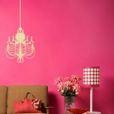 Cool Glimmering Chandelier Vintage Wall Sticker