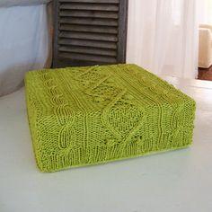 A sweater ottoman!