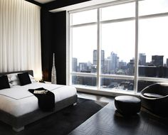 Trump Tower Sky Lounge - portfolio. Oh my. That floor, that bedding and the view.. amazing!