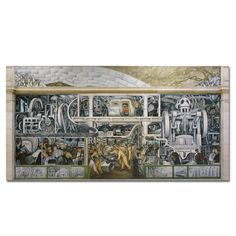 Diego Rivera Detroit Industry Murals South Wall Canvas - Detroit Institute of Arts Museum Shop