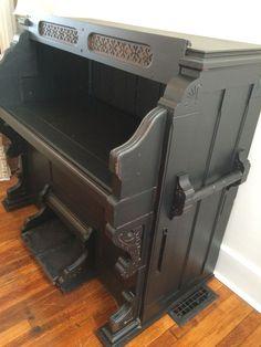 Antique Organ Repurposed to Desk /Side Bar