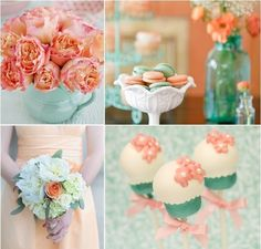Mint and coral wedding colors are so beautiful! #swoon