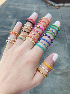 Trendy Jewelry, Summer Jewelry, Cute Jewelry, Bead Jewellery, Beaded Jewelry, Beaded Bracelets, Seed Bead Bracelets Diy, Seed Bead Crafts, Bangles