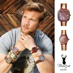 Waidzeit Uhren Wood Watch, Accessories, Women's, Wooden Clock