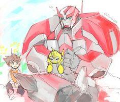Ratchet and Raf by Transformers Humanized, Transformers Memes, Transformers Bumblebee, Multimedia, Fantasy Beasts, Robot Design, Robot Art, Book Cover Art, Geek Art