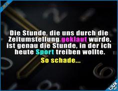 Immer kommt was dazwischen... :P #Zeitumstellung #Uhrumstellung #Stunde #Humor #Sprüche #lustigeSprüche #Statusbilder