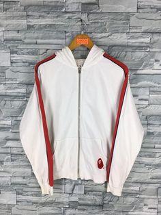 fecd1612 A BATHING APE Hoodie Sweatshirt Small Nigo Hip Hop Japan Bape Baby Milo Ape  Shall Never Kill Ape White Zipper Sweaters Jacket Size S