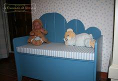 Banco infantil, juguetero infantil, zapatero infantil ....elmundodegloria.com