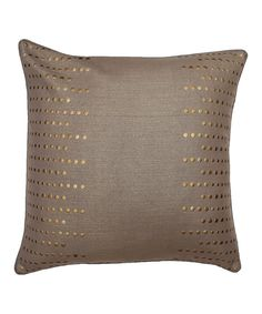 Take a look at this Gray Trixie Nailhead Feather Pillow on zulily today!