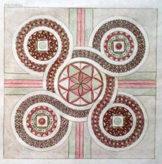 Cosmati Patterns for a Church Floor - designed by students from Thomas More College of Liberal Arts