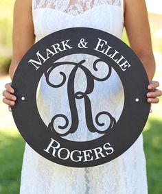 Morgann Hill Designs Last Name & Initial Circle Cut-Out Personalized Wall Sign   zulily