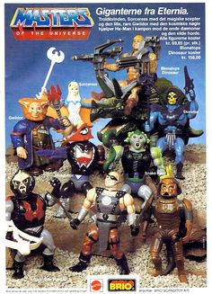 another scandinavian 80s Masters of the Universe toy ad, 1988