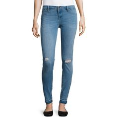 BLANKNYC Women's Distressed Stretch Jeans ($88) ❤ liked on Polyvore featuring jeans, puppy love, ripped jeans, stretchy jeans, stretch blue jeans, blue jeans and blanknyc