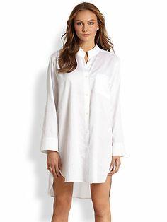 Donna Karan - Cotton Sleepshirt - Saks.com