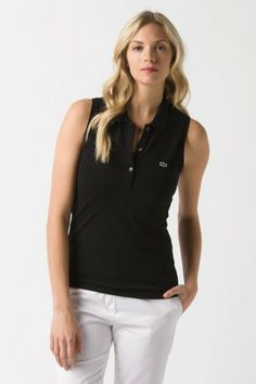 Lacoste Sleeveless Stretch Pique Polo : Polo Shirts