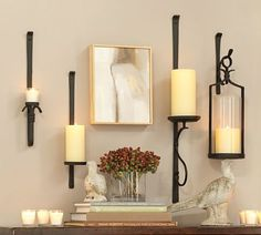 one/two of these for the entryway?  Artisanal Wall-Mount Candleholders   Pottery Barn
