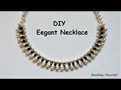How to make a beaded necklace. Easy beading tutorial. Last minute DIY NECKLACE - Bing video