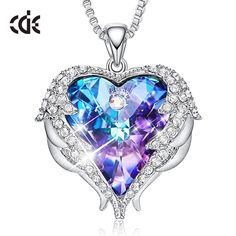 Swarovski Heart Pendant Necklace For Woman Classic Jewelry #Swarovski #Heart #Pendant #Necklace #Jewelry