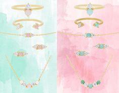 Styling by asilalkhaldi showing Lush Blue Quintet Necklace Gold, Lush Pink Quintet Necklace Gold , Lush Trio Pink Ear Studs Gold , Lush Blue Trio Ear Studs Gold , Lush Blue Trio Bracelet Gold , Lush Pink Trio Bracelet Gold , Lush Pink Ring Gold, Lush Double Pink Ring Gold, Lush Blue Ring Gold and Lush Blue Double Ring Gold #jewellery #Jewelry #bangles #amulet #dogtag #medallion #choker #charms #Pendant #Earring #EarringBackPeace #EarJacket #EarSticks #Necklace #Earcuff #Bracelet #Minimal…