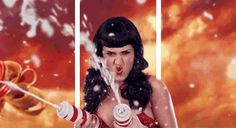 Katie Perry animated 3D GIF based on the California Girls single