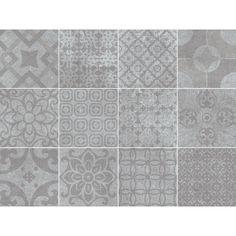 Nexos Grey Grå Dekormix 3848 - Bård/dekor - Kakel och klinker - Sortiment - Konradssons Kakel