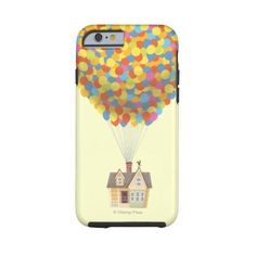 Zazzle Balloon House from the Disney Pixar UP Movie Tough Iphone 6... ($48) ❤ liked on Polyvore featuring accessories, tech accessories, phone cases, phone, disney and coque