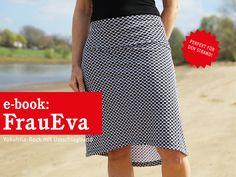 Nähanleitungen Mode - FrauEVA Jerseyrock mit Krempelbund, ebook - ein  Designerstück von schnittreif bei DaWanda 115bec7736