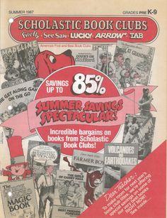 Lucky Book Club summer flyer -1987