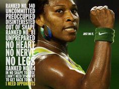 Serena Williams has served as a Nike ambassador...