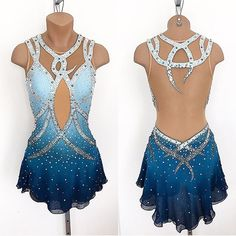 Lisa McKinnon Custom Skating Costume ✨✨✨ #lisamckinnon #costumedesigner #custom #custommade #costume #designer #design #stylist #style #figureskating #skating #dance #icedance #ootd #outfitoftheday #airbrush #ombre #teal #blue #swarovski #crystalsfromswarovski #crystals #instagood