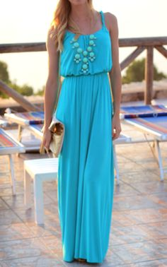 Maxi Dress: Ann Taylor Loft; Clutch: H & M