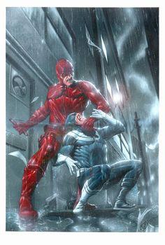 Daredevil vs Bullseye by Andrea Mangiri #ComicArt