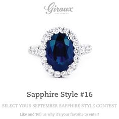 The bigger the sapphire, the bigger her smile will get! // @gfinejewelry