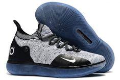 65a3d38f8 2019 Nike KD 11 Black White Racer Blue AO2604-006