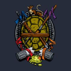 Turtle Family Crest: Teepublic. Edit: I made this for Cory (Christmas 2013) using, as always, laundry markers on a white tee. Turned out excellent.
